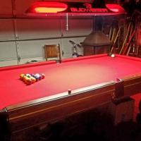 Pool Table, Lights, & Accessories